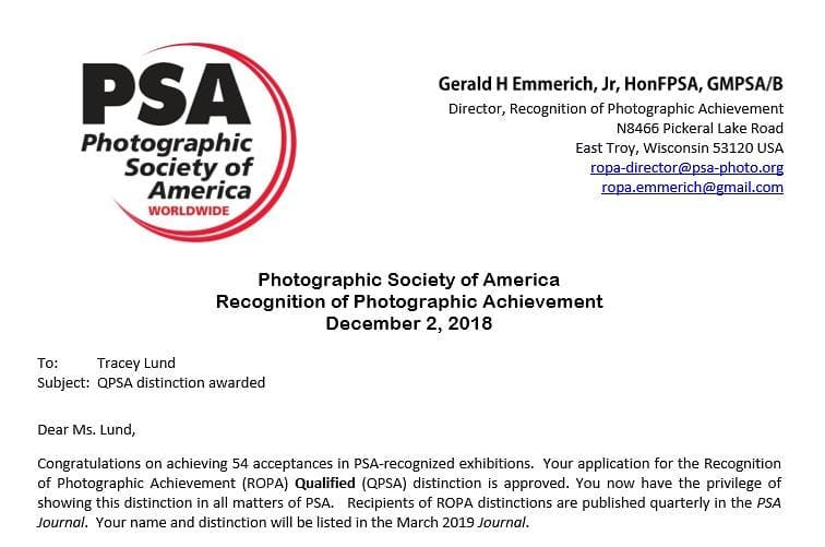 Email just in from the PSA. I have achie...