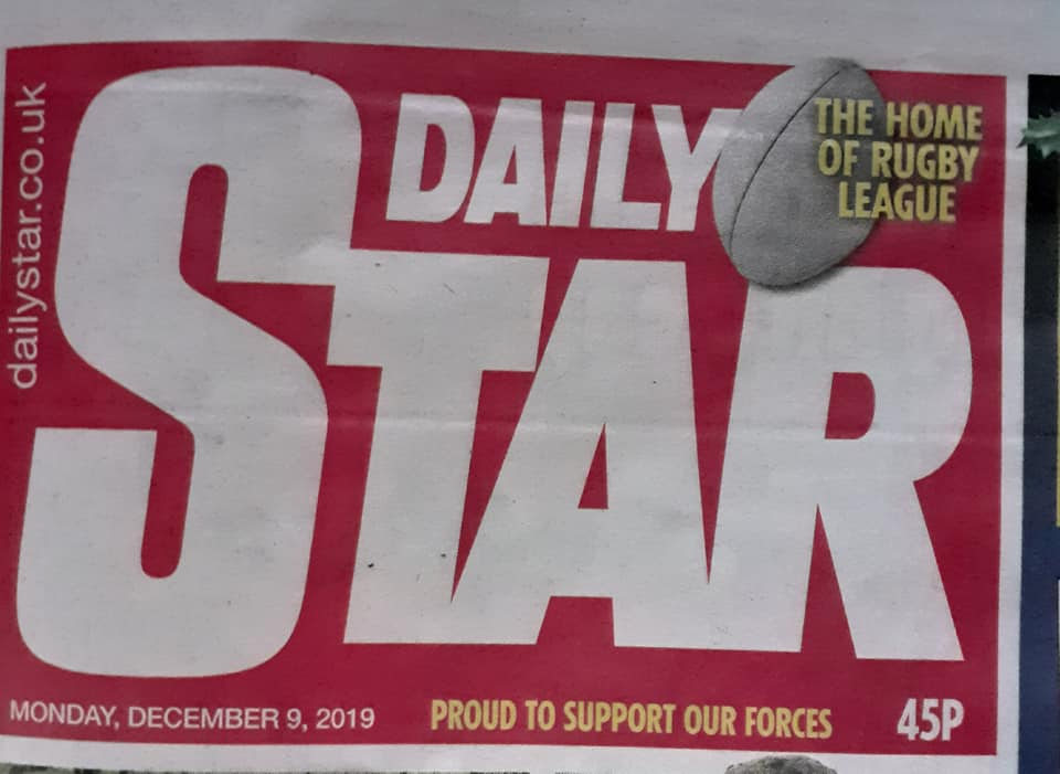 Just found out that im in the Daily Star...